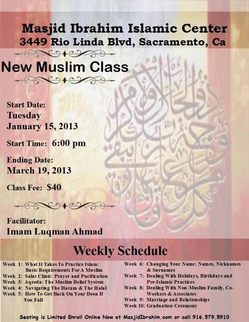 new muslim class flyer