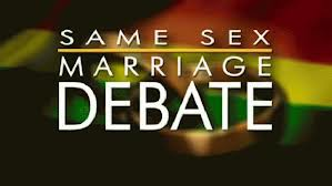Same sex marriage debate