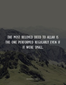 beloved deed to Allah