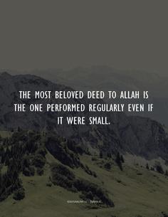 beloved deed to Allah