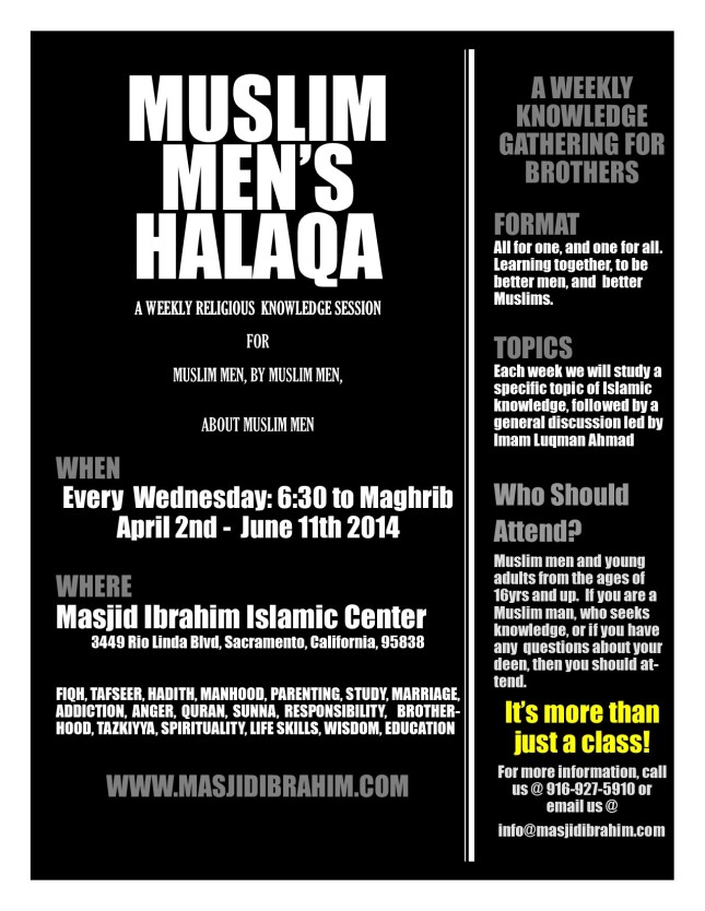 Muslim brother's halqa flyer